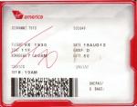 Biglietto per raggiungere l'aeroporto di Los Angeles.