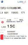 Il biglietto che mi portò in Sud America.